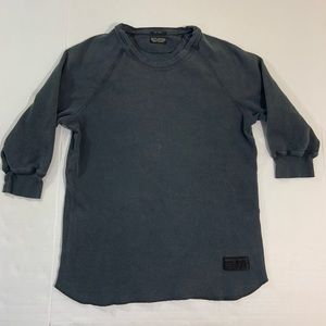 Women's All Saints Gray Thermal Top S